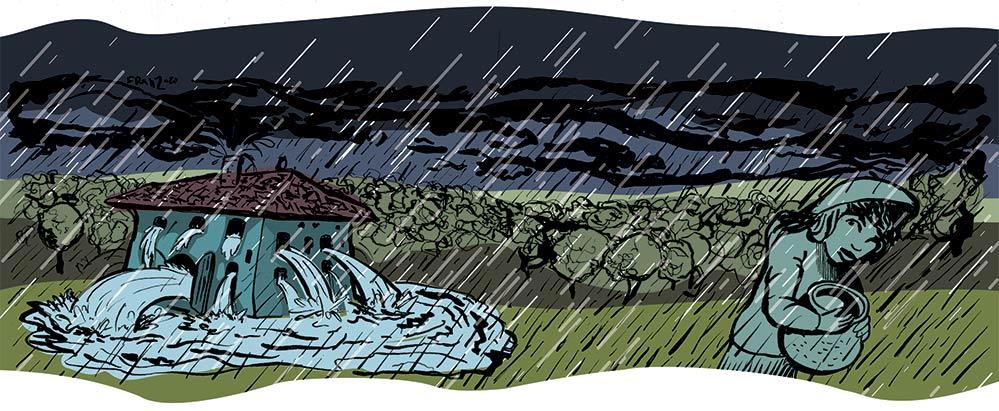 La Leggenda del Lago di Monate - Illustrazione di Andrea Franzosi franZroom.net