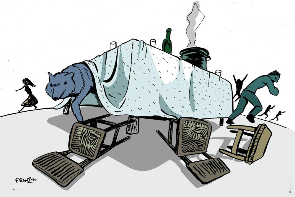 Ranco, i Lupi - Illustrazione di Andrea Franzosi franZroom.net