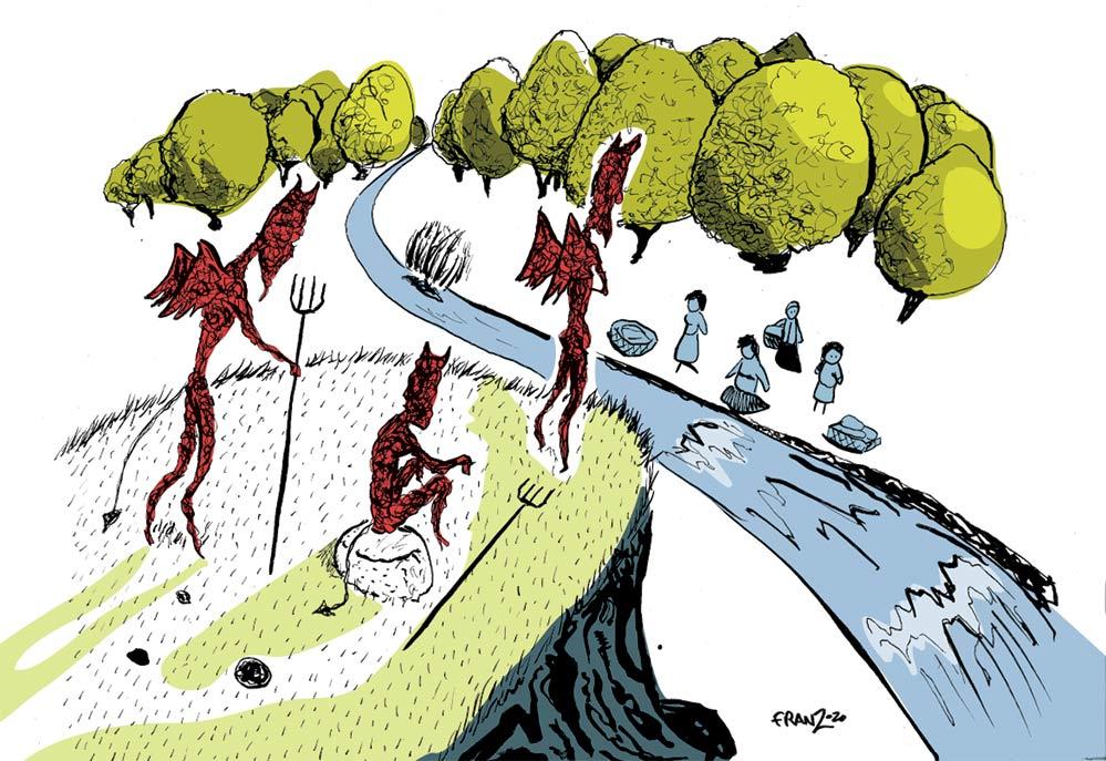 Sassi del Diavolo - Illustrazione di Andrea Franzosi franZroom.net