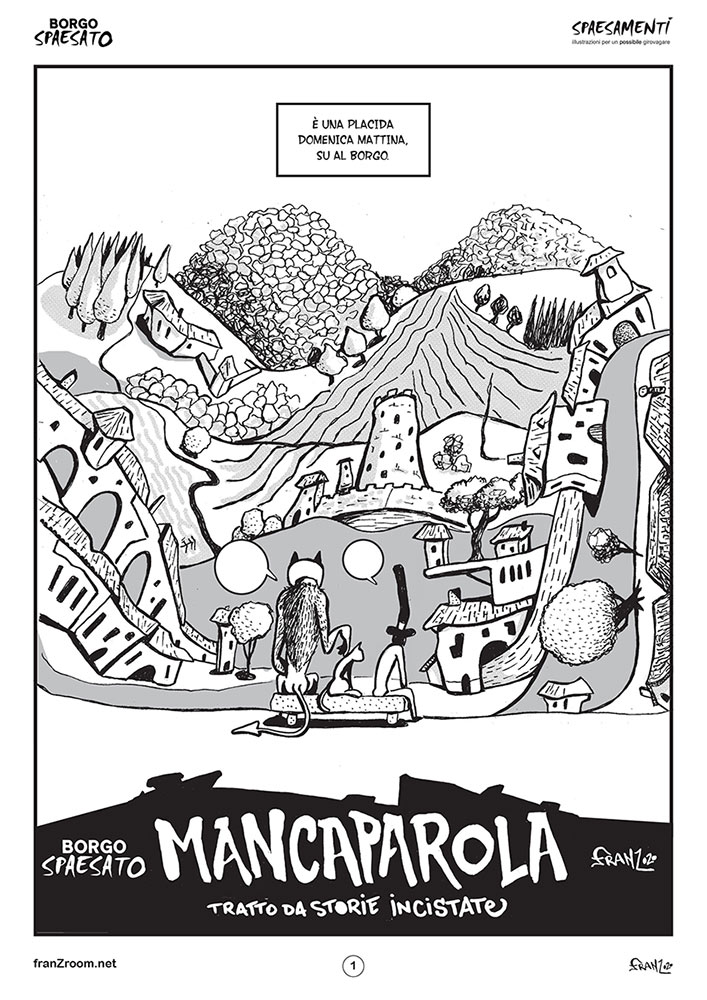 Borgo SpaesatO, MancaParola - webComic - Andrea FranZosi franZroom.net