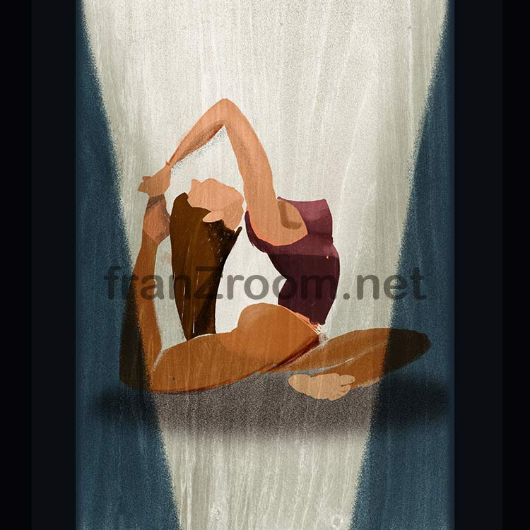 Flecss - yoga illustrations - Andrea FranZosi franZroom.net
