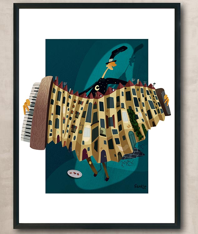 FisarmoniCasa - illustrazione digitale, Andrea FranZosi - franZroom.net