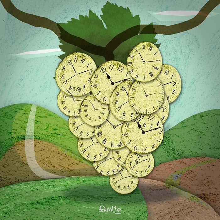 Il Tempo della TerrA - illustrazione digitale, Andrea FranZosi - franZroom.net