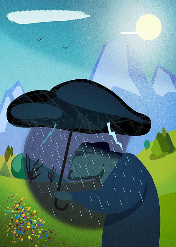 L'Insoddisfatto - illustrazione vettoriale, Andrea FranZosi - franZroom.net