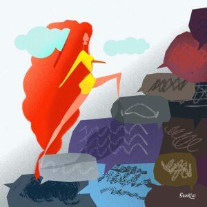 MaleLinguE - illustrazione vettoriale, Andrea FranZosi - franZroom.net