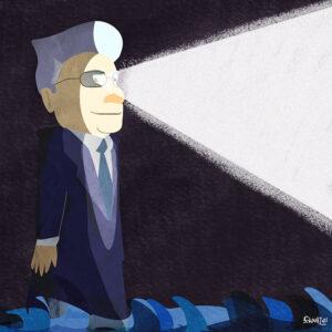 il Faro Mattarella - illustrazione digitale - Andrea FranZosi - franZroom.net