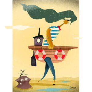 The Freelancer - illustration, Andrea FranZosi franZroom.net
