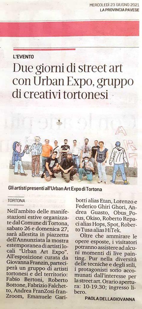 Urban Art Expo - La Provincia Pavese