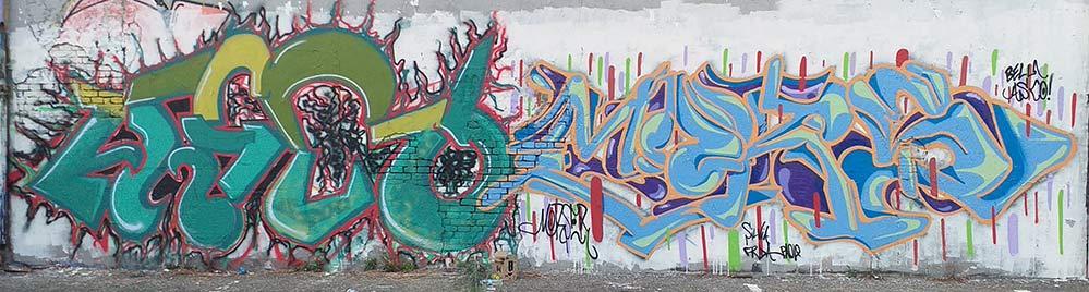 Asco + Mors by Morser - FranZroom graffiti