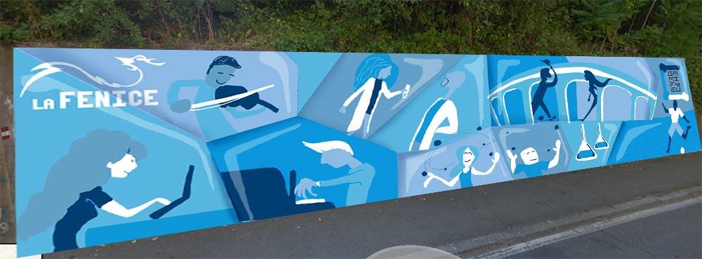 Murale Gamify, bozza simulata - Andrea FranZosi, franZroom.net