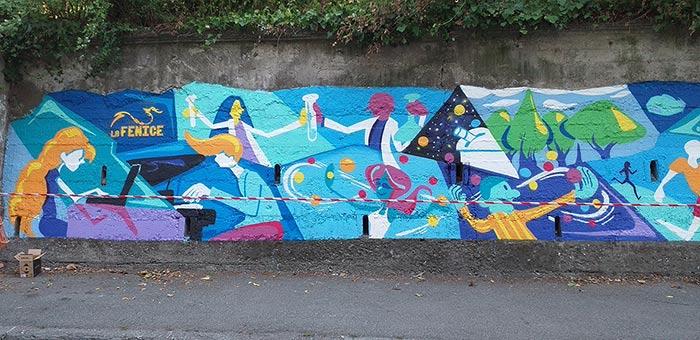 Murale Gamify - Andrea FranZosi, franZroom.net - Lavori in Corso