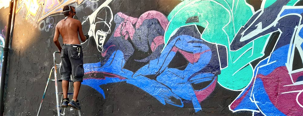 franZ painting - 25 anni di graffiti - franZroom.net