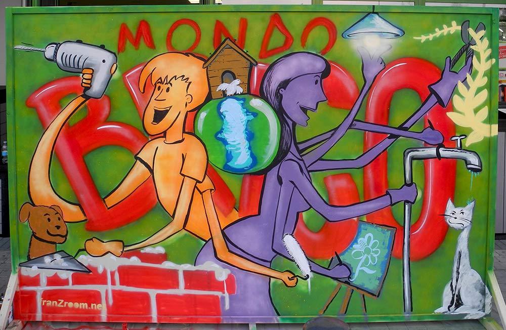 Pannello dipinto al LivePaint per MondoBrico - Andrea Franzosi - franZroom.net