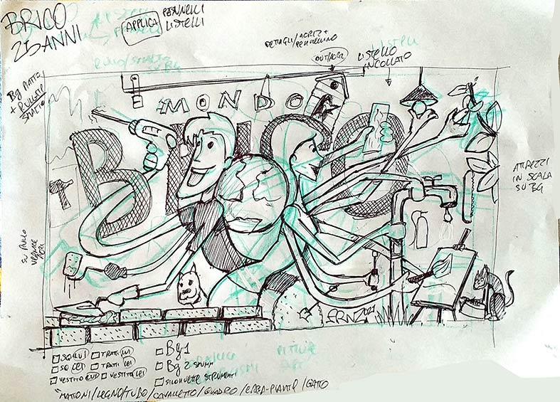 Bozzetto - LivePaint per MondoBrico - Andrea Franzosi - franZroom.net