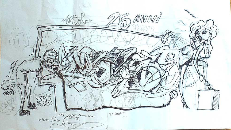 Morser - 25 anni di graffiti sketch - franZroom.net