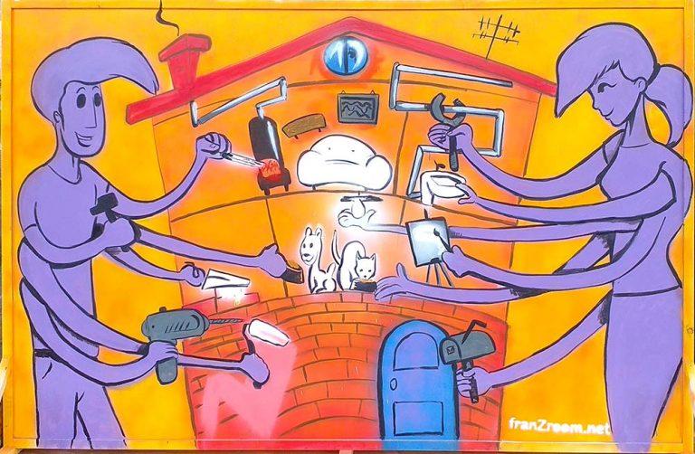 Pannello dipinto al LivePaint per MondoBrico, Alessandria - Andrea Franzosi - franZroom.net